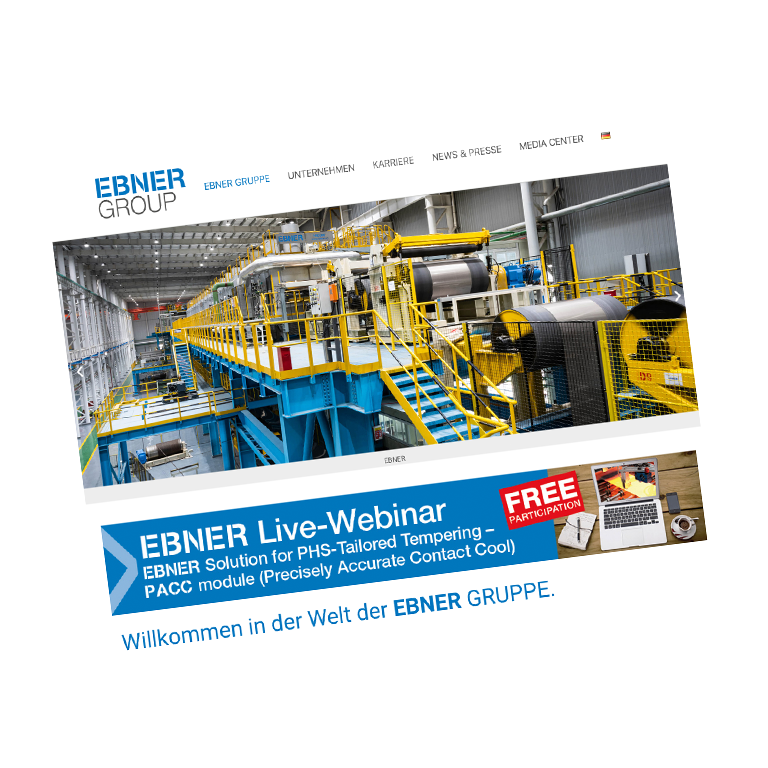 Webseite Ebner Group
